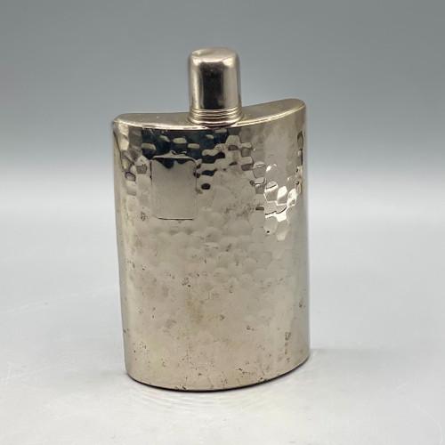 Vintage Tin-Lined 10oz Hammered Flask
