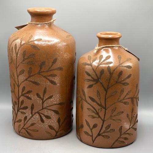 Hand Painted Terracotta Bottle