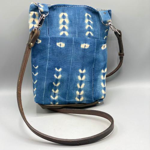 Medium Mudcloth Crossbody w/Leather