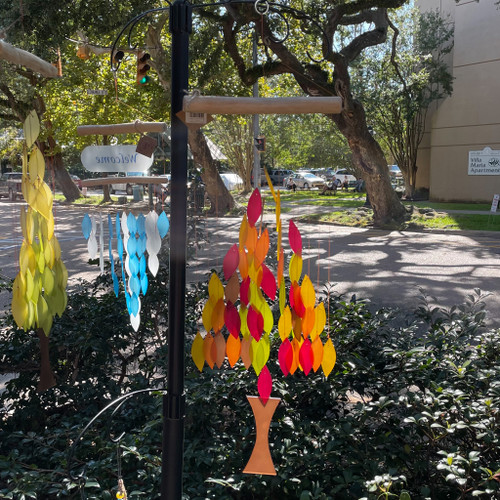 Autumn Tree Sea Glass Wind Chime