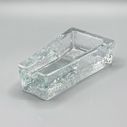 1970s Dimpled Glass Cigar Ashtray