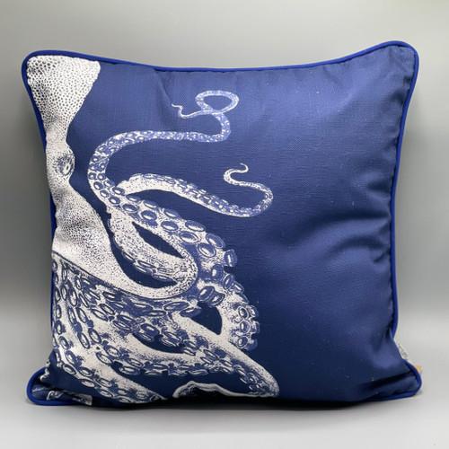 Navy Blue Octopus Pillow