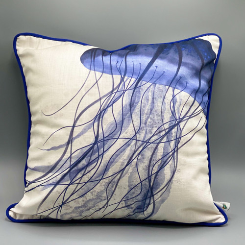 Jellyfish Drift Throw Pillow