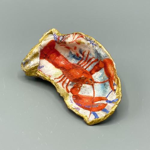 Decoupage Crawfish Shell Jewelry Dish