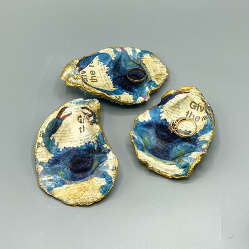 Decoupage Crab Oyster Shell Dish