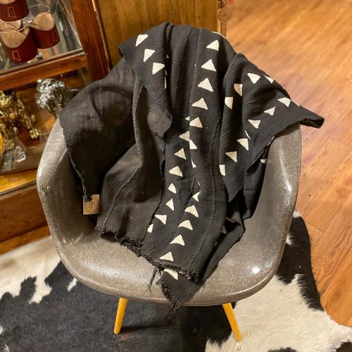 Triangle Black Mud Cloth Blanket