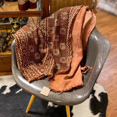 Mud Cloth Burst Rust Color Blanket