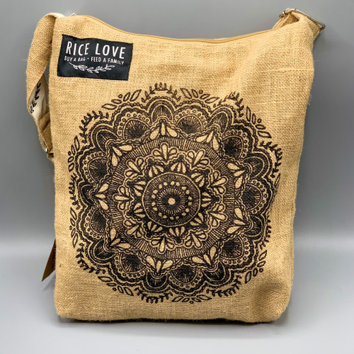 Rice Love Large Crossbody, Mandala