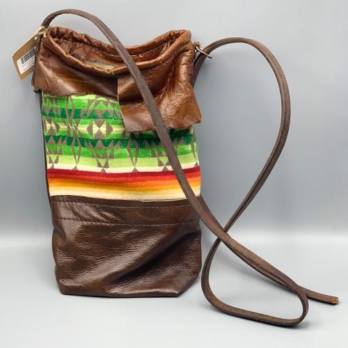 Leather & Pendleton Crossbody Bag