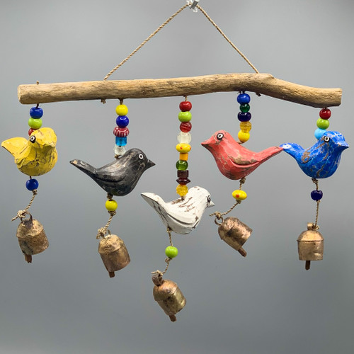 5 Wooden Birds Nana Chime