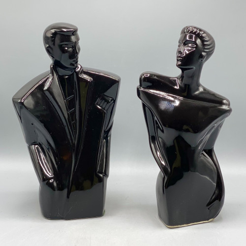 Black Busts of Man & Woman