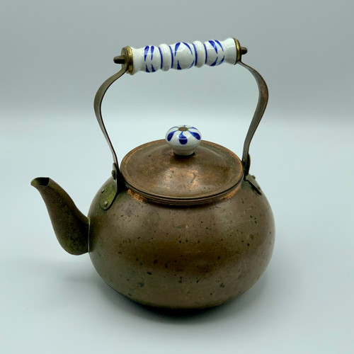Copper & Porcelain Tea Kettle