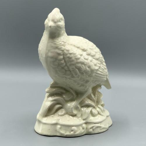 White Ceramic Quail