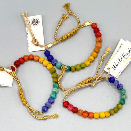 Fair Trade, Handmade Rainbow Slide Bracelet