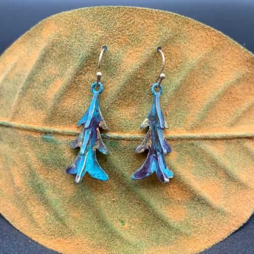 3D Evergreen Tree Earrings