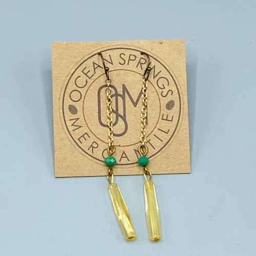 Copper Bead Earrings
