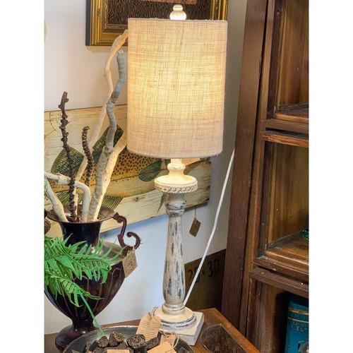 Distressed White Lamp