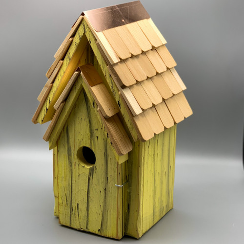 Bluebird Birdhouse - yellow