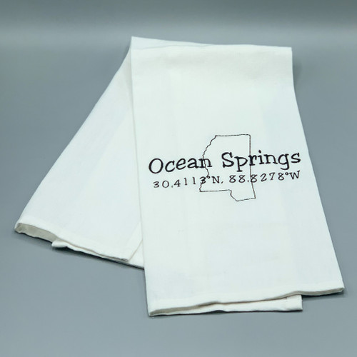 Ocean Springs Tea Towel