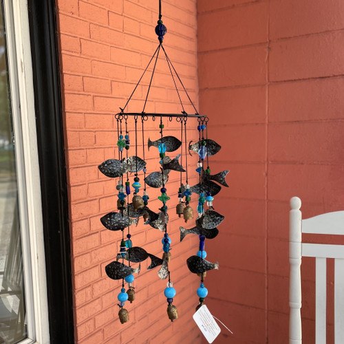 Swimming with Fish Nana Chime, fish wind chime, hand cut chimes