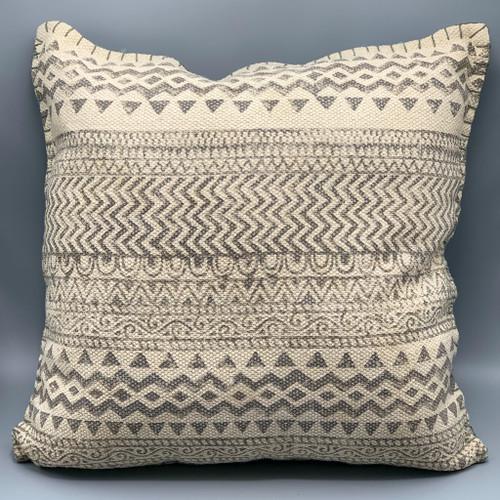 Dhurrie Light Gray Pillow