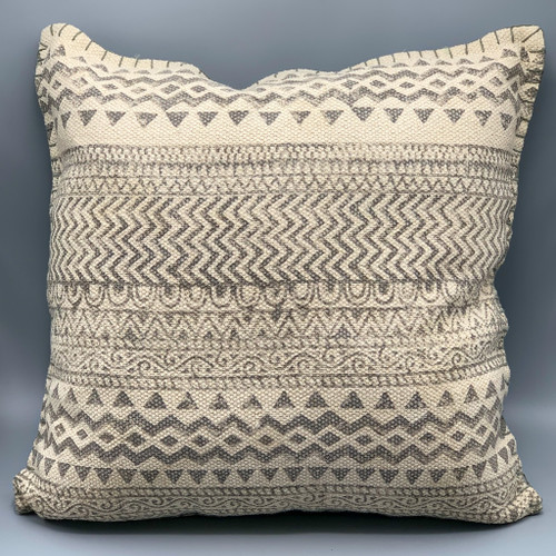 Dhurrie Light Gray Pillow