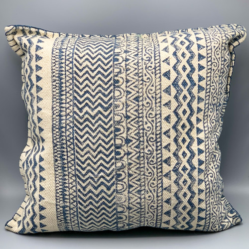 Dhurrie Denim Blue Pillow