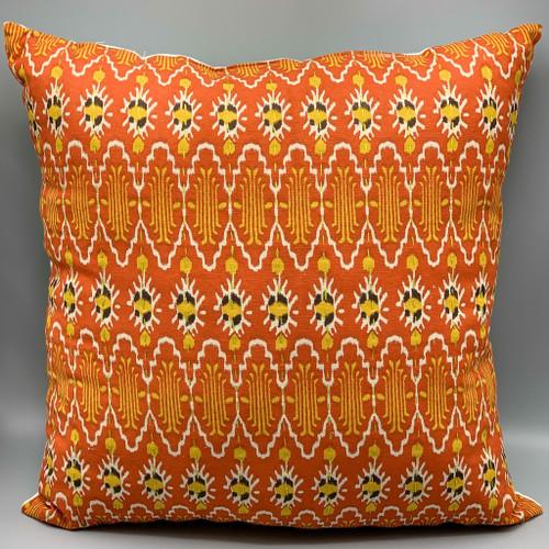 Tribal Earthtones Ikat Pillow