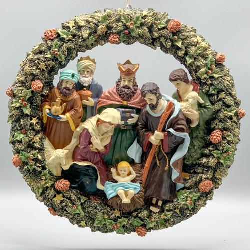 Resin Nativity Wreath