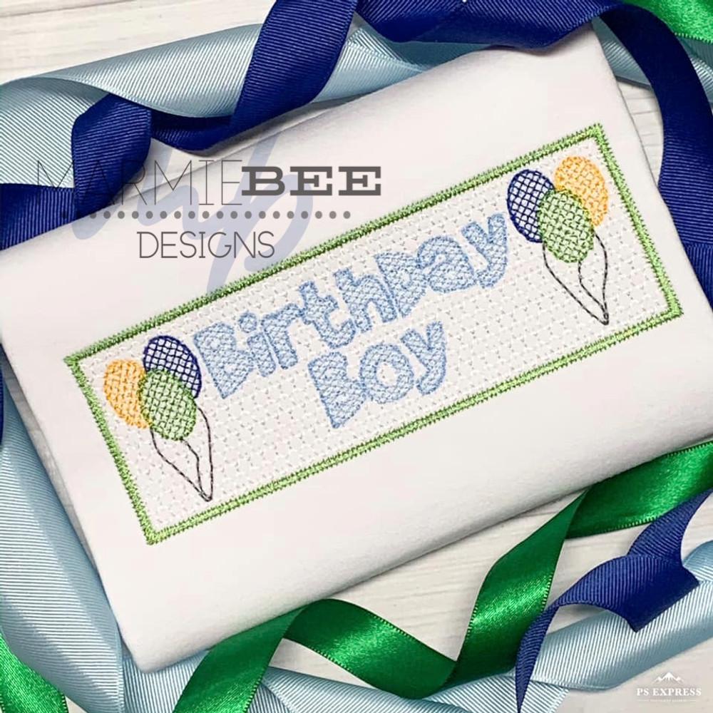 Smocked Birthday Boy Quick Stitch Embroidery