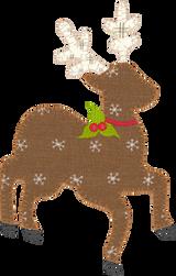 Reindeer Appliqué Embroidery