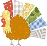 Choppy Turkey Applique Embroidery