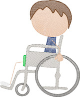 Boy 1 in Wheelchair(Add On for Family) Quick Stitch Embroidery