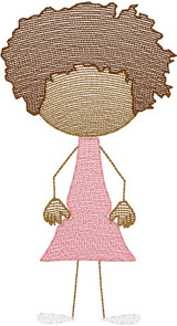Girl 6 (Add On for Family) Quick Stitch Embroidery