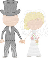 Bride and Groom (Add On for Family) Quick Stitch Embroidery