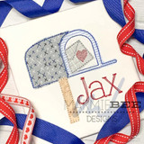 Mailbox Simple Applique Quick Stitch Embroidery