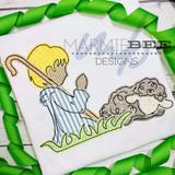 *Special Release* Shepherd Boy and Sheep Applique