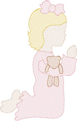 Praying Little Girl Quick Stitch Embroidery