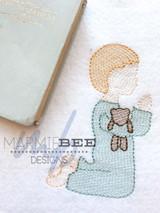 Praying Little Boy Quick Stitch Embroidery