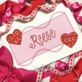 Heart Name Frame Simple Applique Quick Stitch Embroidery