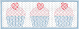Smocked Valentine Cupcake Quick Stitch Embroidery