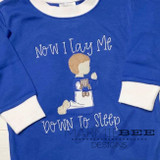 Praying Little Boy Simple Applique Embroidery