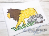 Lion and Lamb Simple Applique Embroidery
