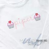 Mini Valentine Cupcake Simple Applique Embroidery