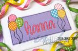 Birthday Balloon Name Frame Simple Applique