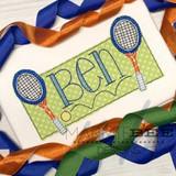 Tennis Name Frame Simple Applique