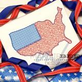 America Flag Simple Applique Quick Stitch