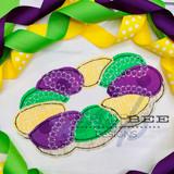 King Cake Simple Applique Quick Stitch