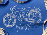 One Color Motorcycle Quick Stitch Embroidery