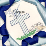 Cross and Lamb Simple Applique